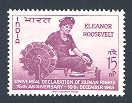 Eleanor Roosevelt Issue, India, 1963 (Scott 379)