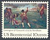 America's Bicentennial- Lexington and Concord, United States, 1975 (Scott 1563)
