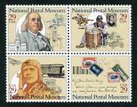 National Postal Museum Issue, Mint Block of 4 Stamps, United States, 1993 (Scott 2779-82)