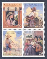 Classic American Children's Books, Block of 4 Mint Stamps, United States, 1993 (Scott 2785-8)