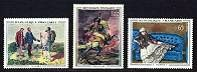 Art (Paintings) - Mint Set of 3 Stamps, France, 1962 (Scott 1049-51)