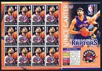 Vince Carter, Mint Sheet of 12 Stamps, Micronesia, 2004 (Scott 614)