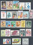 Basketball on Stamps - a Collection of 25 Different