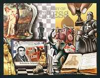 """History of Chess,"" Mint Souvenir Sheet, Solomon Islands, 2013 (Scott 1223)"