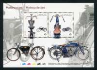 Motorcycles - Mini-sheet of 2 Stamps, Canada, 2013 (Scott# 2646)