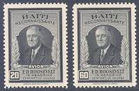 Franklin D. Roosevelt, Mint Set of 2 Stamps, Haiti, 1946 (Scott C33-34)