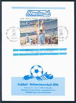 1986 World Cup Soccer, Argentina First Day of Issue Card (Scott 1570e-h)