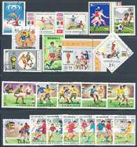 Soccer Collection: 22 Different Canceled Stamps