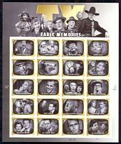 Early TV Memories, Mint Sheet of 20 Stamps, United States , 2009 (Scott 4414)