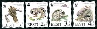 WWF - Flying Squirrel, Mint Set of 4 Stamps, Estonia, 1994 (Scott 270-3)