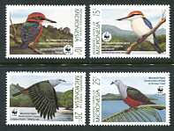 WWF - Kingfishers & Pigeons, Mint Set of 4 Stamps, Micronesia, 1990 (Scott 106-9)