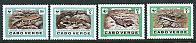 WWF - Skinks & Geckos, Mint Set of 4 Stamps, Cape Verde, 1986 (Scott 491-4)