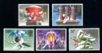 Great Britain - 1983 Christmas Issue, Set of 5 Stamps (Scott 1035-9)