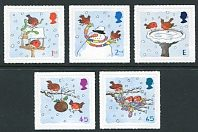 Great Britain - 2001 Christmas Issue, Set of 5 Stamps (Scott 2002-6)