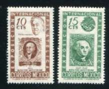 Franklin D. Roosevelt, Set of 2 Stamps, Mexico, 1947 (Scott 826-7)