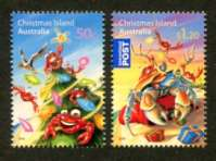 Christmas Island, Christmas 2008, Set of 2 Stamps (Scott 473-4)
