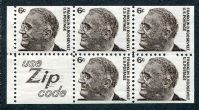 Franklin D. Roosevelt, Booklet Pane of 5 Stamps, United States, 1968 (Scott 1284c)