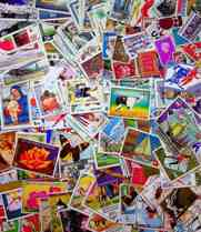 Collection of 1,000 Different Large Worldwide Stamps
